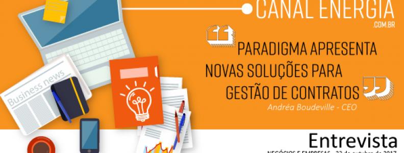 AGÊNCIA CANAL ENERGIA ENTREVISTA | ANDRÉA BOUDEVILLE, CEO DA PARADIGMA